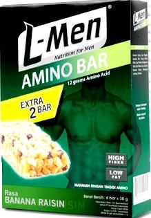 L-Men Amino Bar merupakan snack praktis tinggi protein dan rendah lemak