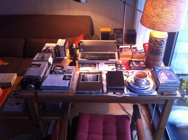 Norwegian writer Tomas Espedals writing desk (Photo: Espedal himself)