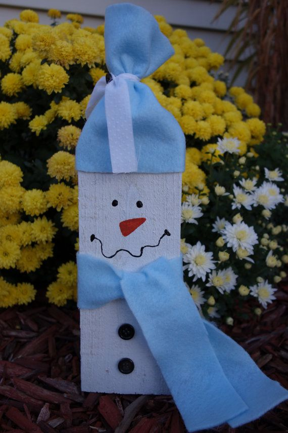 Small Decorative Snowman Made from Pallet by SavvyExpression, $19.00