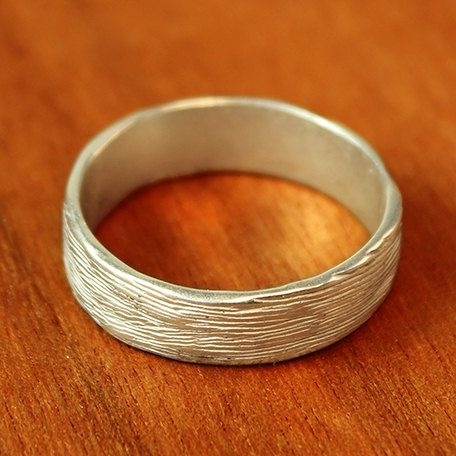 Wide Branch Wedding Band in sterling silver. Men's wedding band. Women's wedding band. Alternative Wedding Ring.