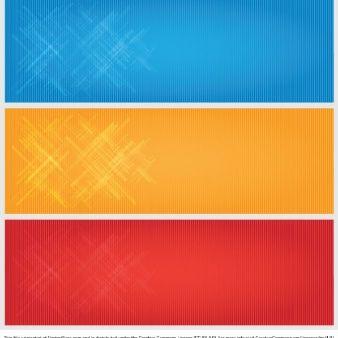 Banners modernos en tres colores