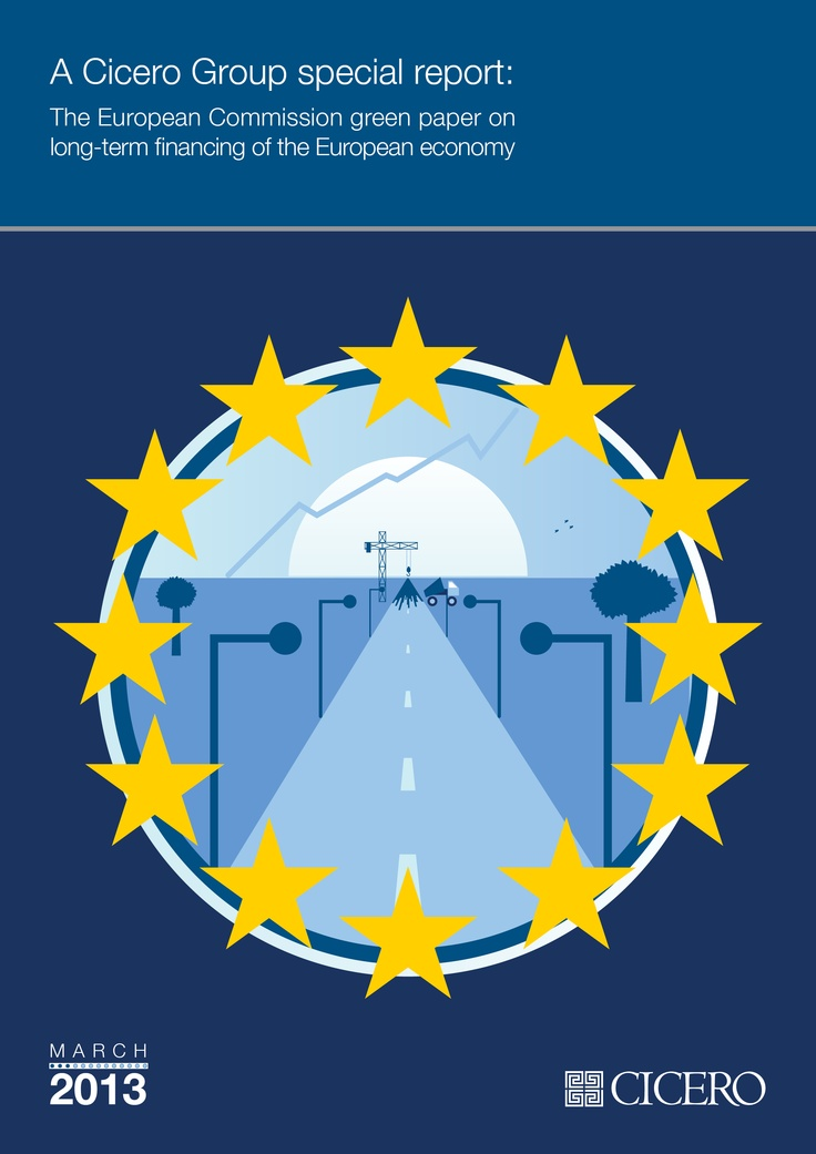 A Cicero Group special report: The European Commission Green Paper on long-term financing #report cover #illustration