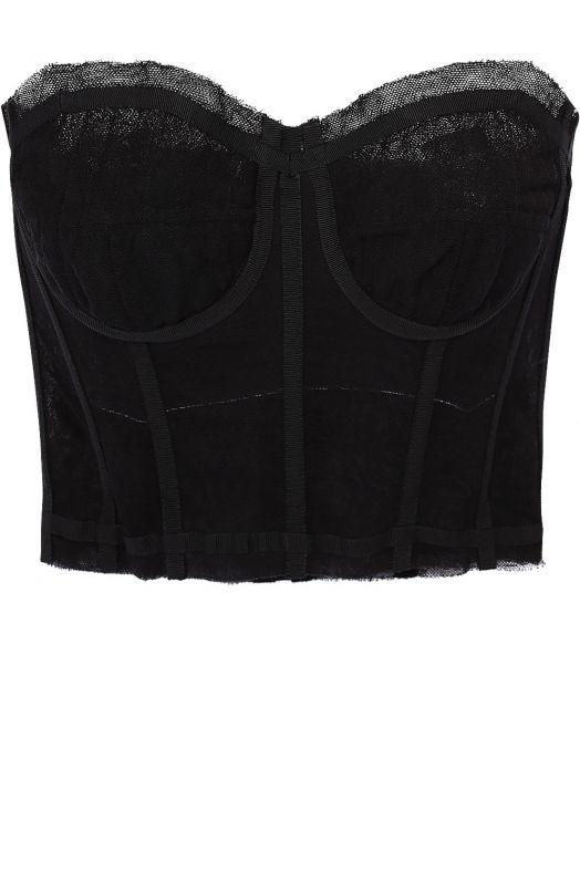 Женский черный кружевной корсет-бюстье DOLCE & GABBANA — купить за 38700 руб. в интернет-магазине ЦУМ, арт. 0102/F7Z45T/FLEAA