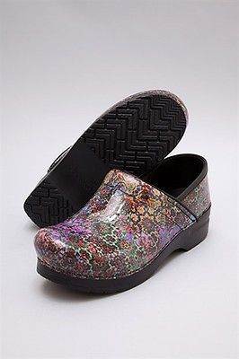 0214629a1f23 Women s Dansko Professional Mosaic Floral Patent Leather