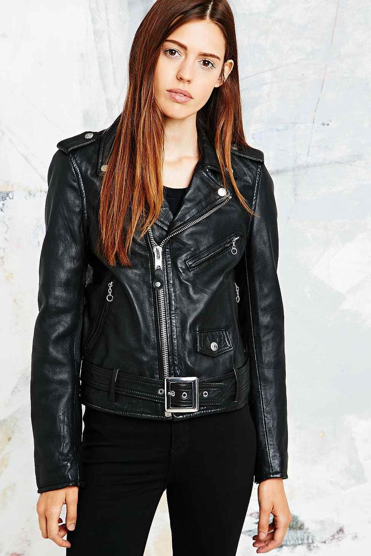 Leather jacket urban outfitters - Schott Perfecto Leather Biker Jacket In Black Leather Biker Jacketsmotorcycle Jacketsurban Outfitters