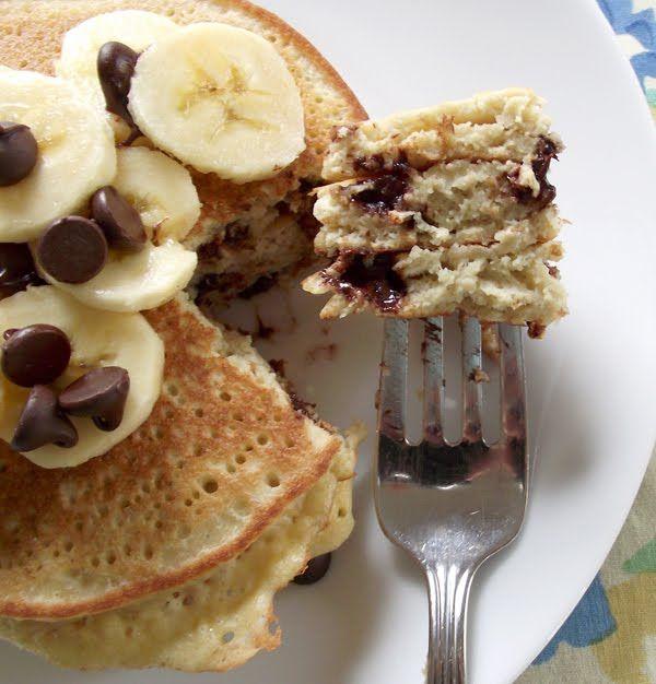 Coconut Chocolate Chip Pancakes  gluten-free, dairy-free, grain-free