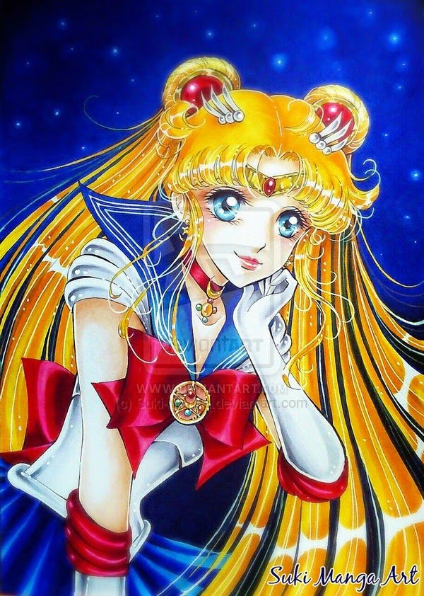 "Copic Marker Europe: ""Always thinking of you"" Copic artwork by Suki Manga Art"