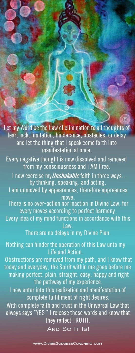 A powerfully-effective prayer to release fear.  www.DivineGoddessCoaching.com