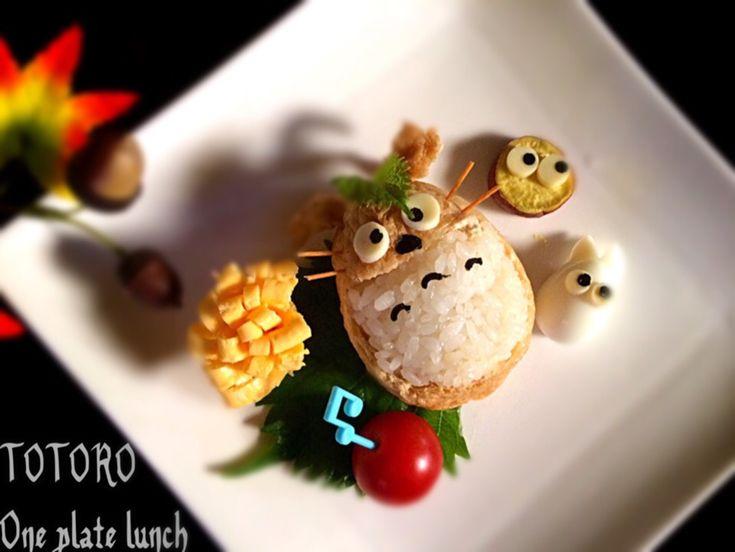 Bちゃん's dish photo お弁当の残りでトトロのワンプレートランチ 58歳のおっさんの昼飯です 笑  トトロ  ワンプレート   http://snapdish.co #SnapDish #お昼ご飯 #キャラクター