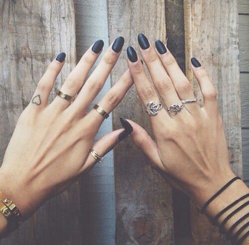 matte black + multiple rings @shahlakurdistan                                                                                                                                                                                 More