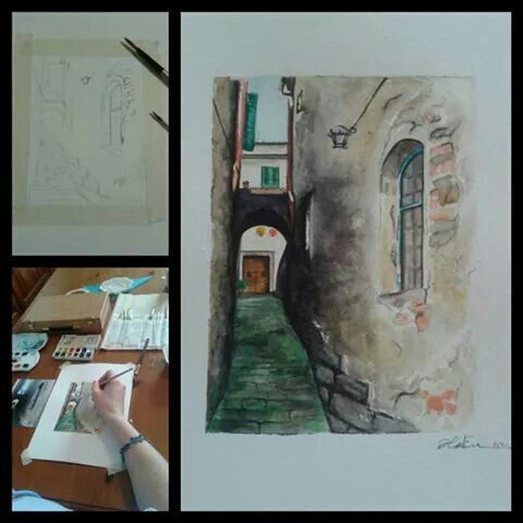 Sinalunga,  Tuscany waterlcolors by ARTEILA