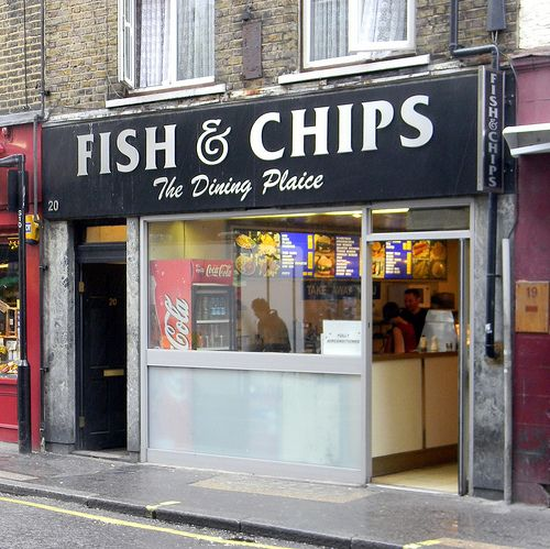 1000 images about petit cafes restaurantes shops on for Fish and chips london