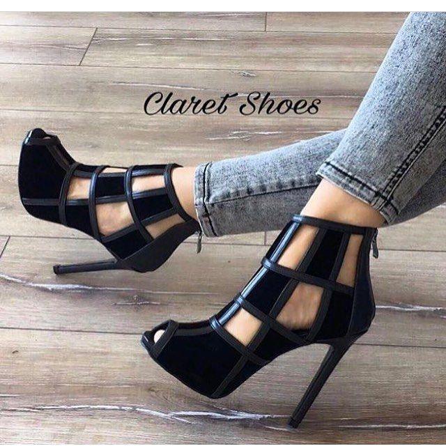 """10 Beğenme, 1 Yorum - Instagram'da Ayakkabı atölyesi (@claretshoescom): """"Siyah süet siyah deri kafesli sandalet-109.90tl-sipariş için dm-whatsapp 05452295362"""""""