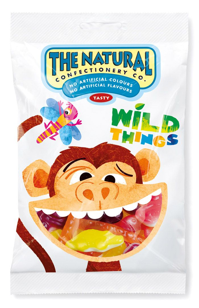 Kid-fun packaging for The Natural Confectionery Company.