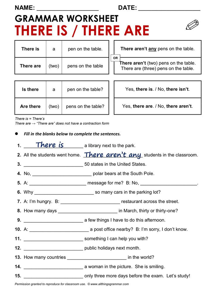 Esl Grammar Worksheets : Best there is and are images on pinterest