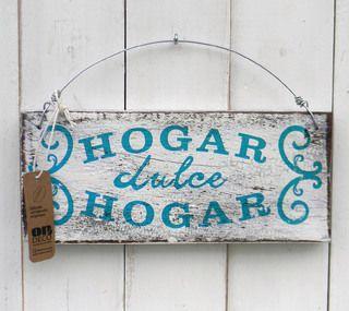 Letreros vintage | HOGAR DULCE HOGAR - TURQUESA