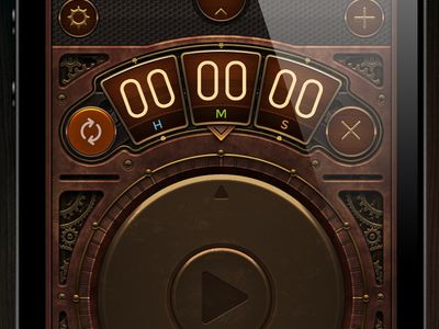 Steampunk Timer    #apps #iphone #ios #ui #gui #steampunk
