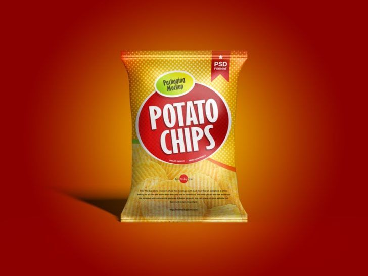 Download Free Brand Chips Packet Mockup Free Package Mockups Chip Packaging Chips Bag Mockup