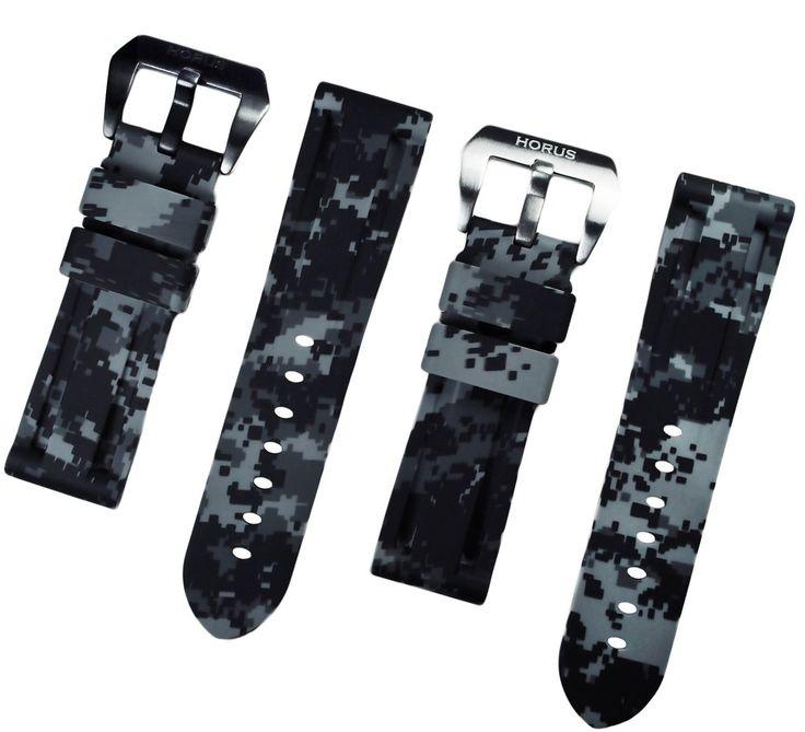 Graphite Digital Camouflage Rubber Tudor Pelagos Strap