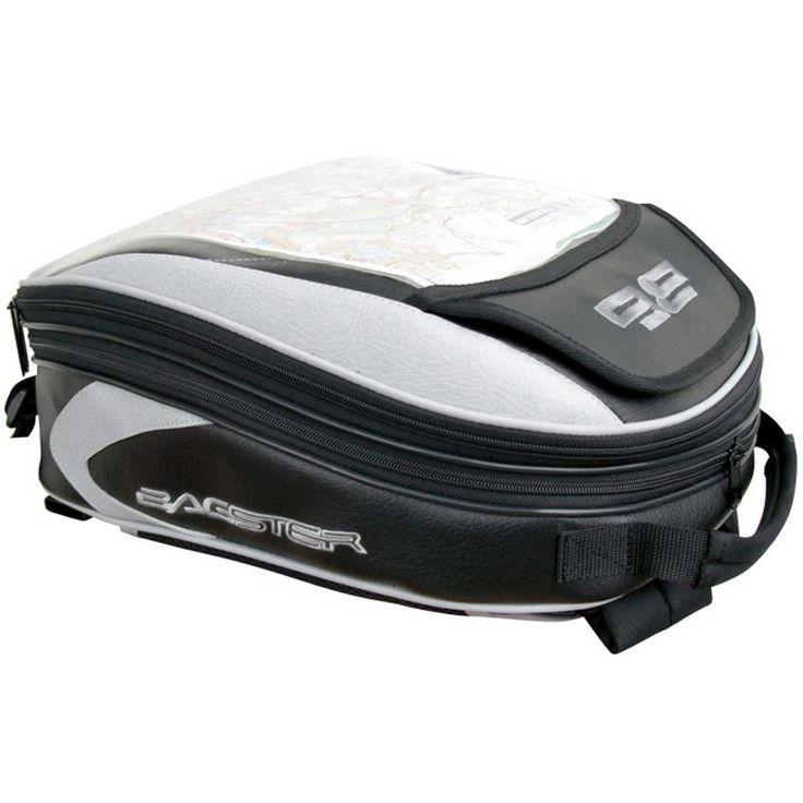 Mochila Bagster Minea. Mochila con anclajes para cubredepósito de piel Bagster Minea, ideal para uso tanto a diario como en viajes en cualquier tipo de moto - Modelo con anclaje para cubredepósito de piel - Fabricada en piel y tejido resitente - Parte superior transparente para la utilización de GPS o mapa.  - Múltiples bolsillos interiores y exteriores  - Funda impermeable  - Tamaño: Cerrada: 12 litros. Extendida: 21 litros.  - Dimensiones: 16x31x40,5 cm  - Tirantes para uso como mochila