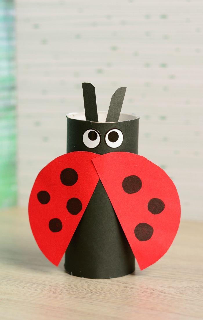 Toilet Paper Roll Ladybug Craft Easy Peasy And Fun Ladybug