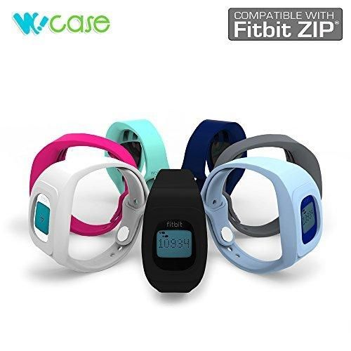 WoCase ZipBand Fitbit Zip Accessory Wristband Bracelet Collection (2016 Lastest Version Secured Lost Proof) for Fitbit Zip Activity and Sleep Tracker (Turn Your Fitbit Zip into Wearable FLEX/FORCE/CHARGE Gift Ready Retail Package)