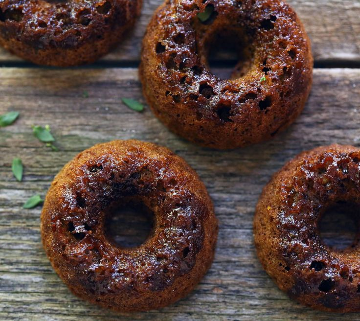 Vegan Sweet Beetroot and Thyme Baked Donuts