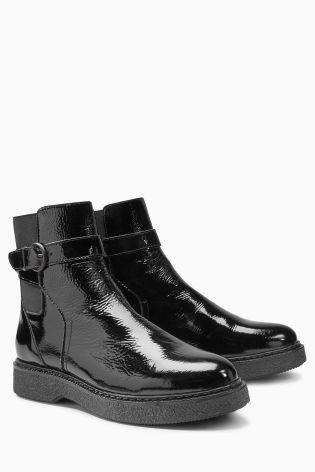 Черные кожаные ботинки на платформе - Покупайте прямо сейчас на сайте Next: Украина