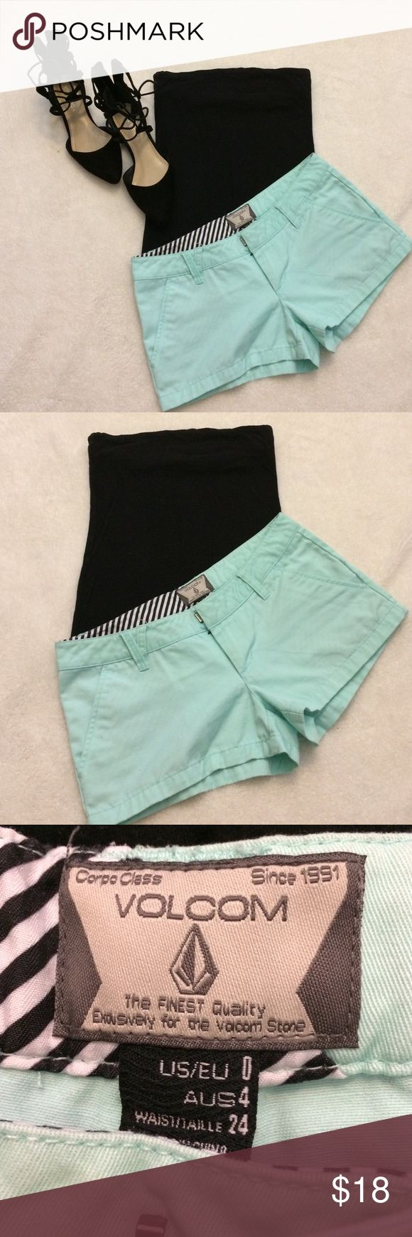 Volcom Teal Shorts Volcom Teal Shorts - Size 0 - Waist 24 - Teal color - Great condition. Volcom Shorts