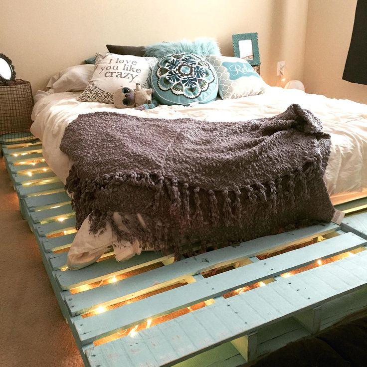 Pallet Bed Frame With Storage Instructions Diy Queen (met