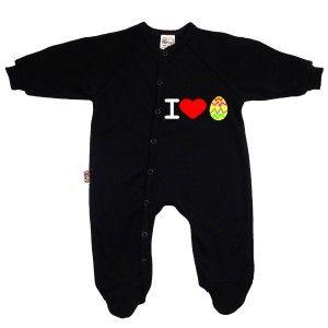 Pyjama bébé original de Pâques : I love œuf