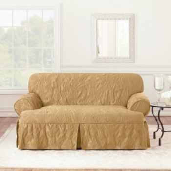 sure fit matelasse damask tcushion loveseat slipcover