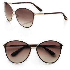 Tom Ford Eyewear Penelope Metal Cat's-Eye Sunglasses