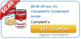 A dollar a day... builds vacation spending money. Save here. $0.40 off any (3) Campbell's Condensed soups
