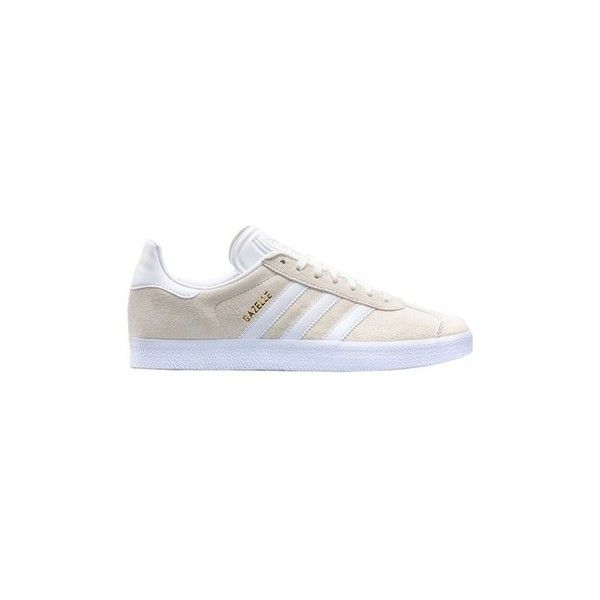 adidas Gazelle Shoes (Trainers) (€180) ❤ liked on Polyvore featuring men's fashion, men's shoes, men's sneakers, beige, men, shoes, trainers, mens sneakers, adidas mens sneakers and adidas mens shoes