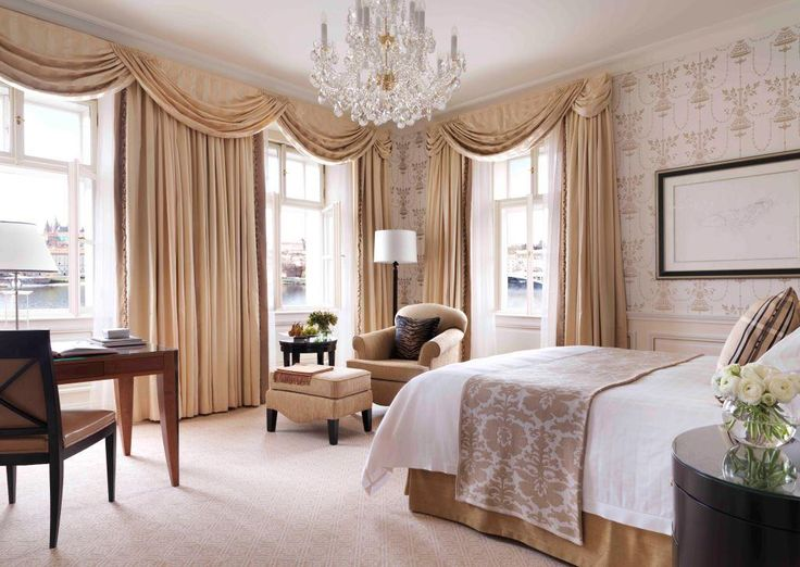 With windows facing west or south, Premier River Rooms with Neo-Classical design in shades of beige and gold provide a view of the city's key landmarks, including Vltava River, Lesser Town and Prague Castle or Charles Bridge.
