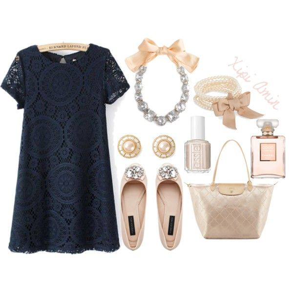 Fancy Date Night. by xipiamin on Polyvore featuring polyvore, fashion, style, Forever New, Longchamp, J by Jasper Conran, Chanel, Essie and Kate Spade
