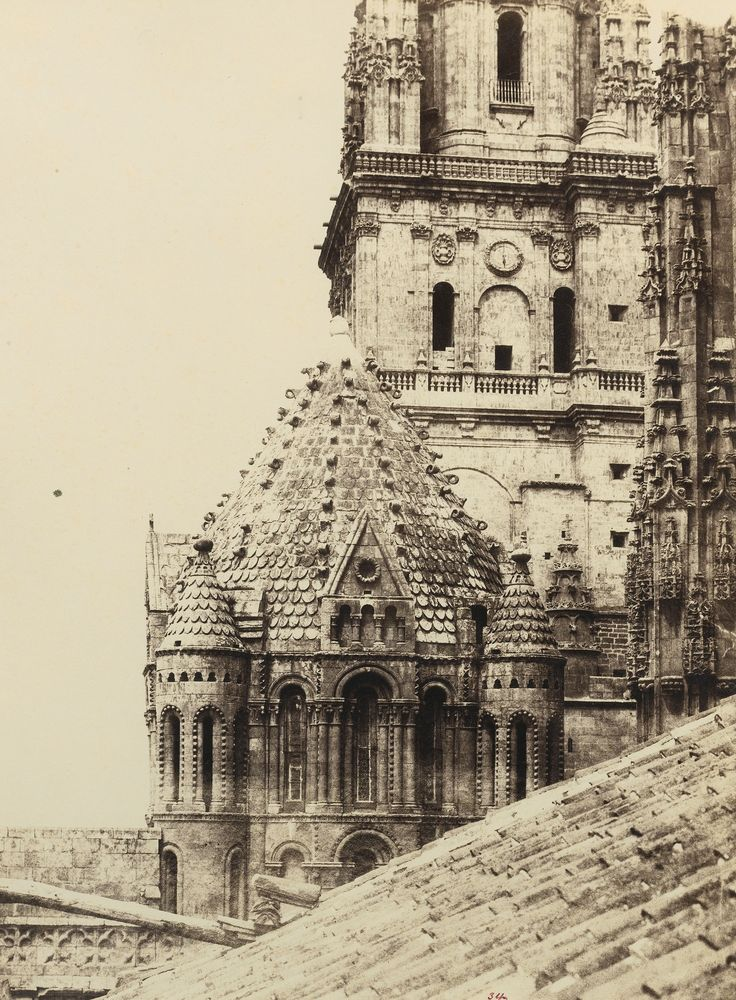 Charles Clifford - Salamanca Cathedral with Gallo Tower from the old cathedral, 1853-1854