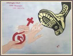 Image result for save girl child