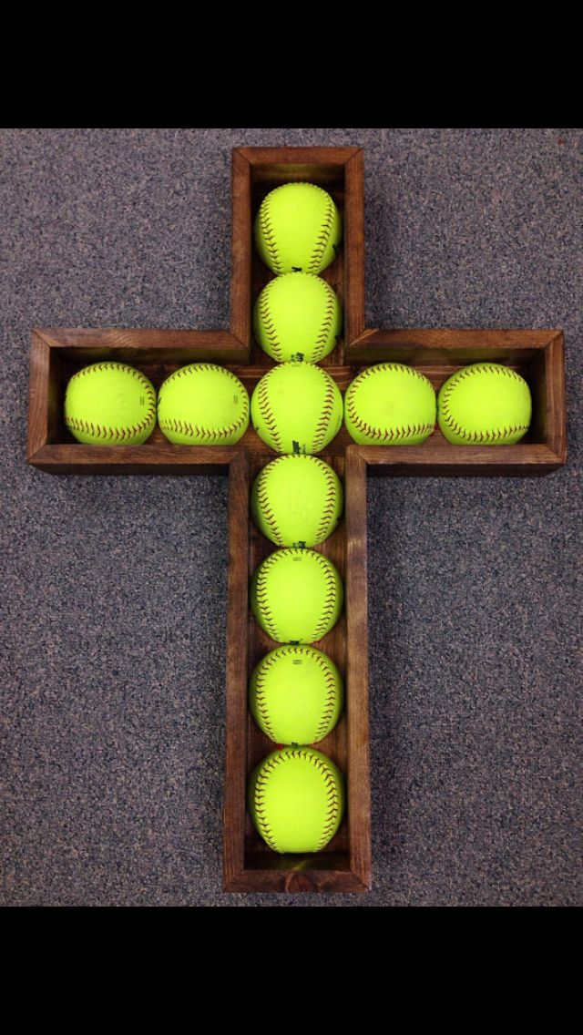 Softball cross. Awesome gift for that softball player in your life! https://www.etsy.com/shop/TourtillottCreations