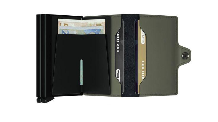 Secrid twinwallet kortholder matte grønn