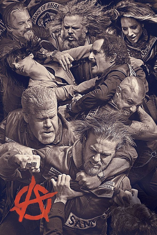 """SONS OF ANARCHY FIGHT SCENE POSTER SUPERIOR SATIN CANVAS HUGE SIZE 20"""" X 30"""" in Art, Canvas/ Giclee Prints 