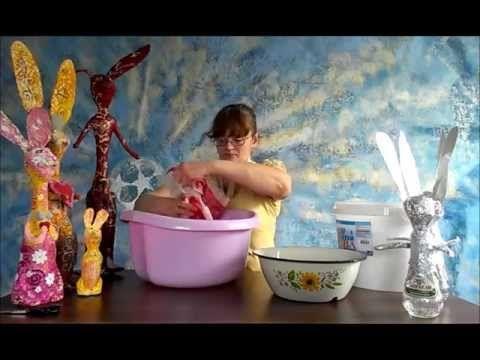 уроки папье-маше Татьяны Молодой - урок №2 Как сделать массу для папье-маше
