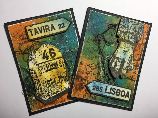 PaperArtsy: 2018 #1 ATC's with EEG Sneak Peek {by Claire Snowdon}