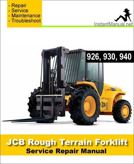 download jcb 926 930 940 rough terrain forklift service repair