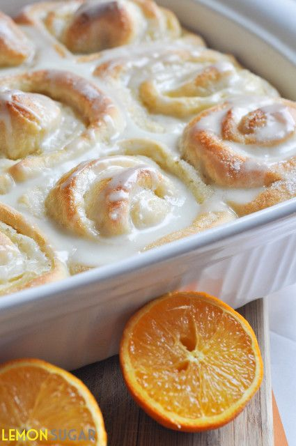Orange Sweet Rolls Recipe ~ made from scratch. Sweet, citrus rolls that are perfect for breakfast, brunch or dessert!