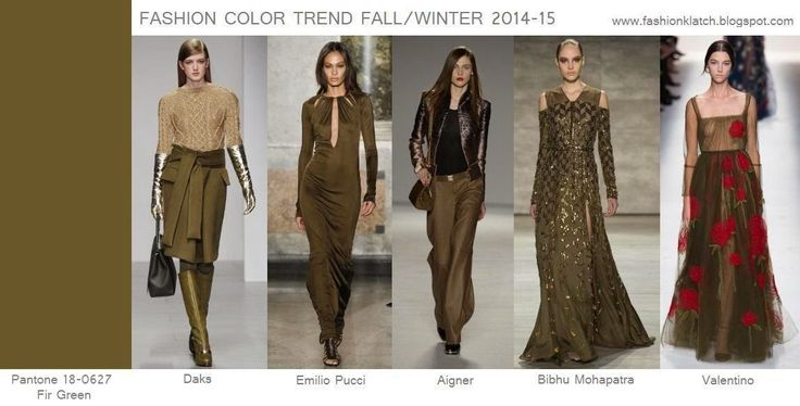 Fashion Color Trend Fall/Winter 2014-15: Fir Green...