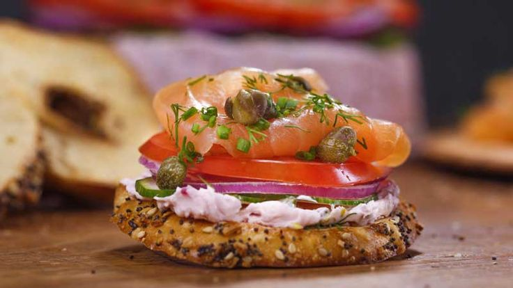 Everything Bagel Crisps with Everything Cream Cheese and Scottish Smoked Salmon Terrine Recipe