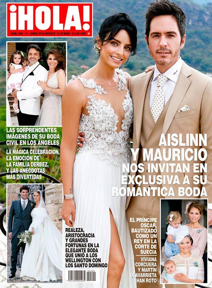 EXCLUSIVA en ¡HOLA!, Aislinn y Mauricio nos invitan a su romántica boda