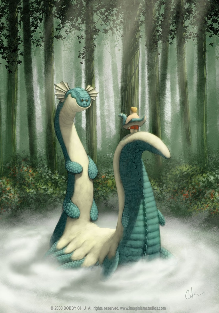 Bobby Chiu - loch-ness-monster-funny-photoshop-painting-pixar-style-art